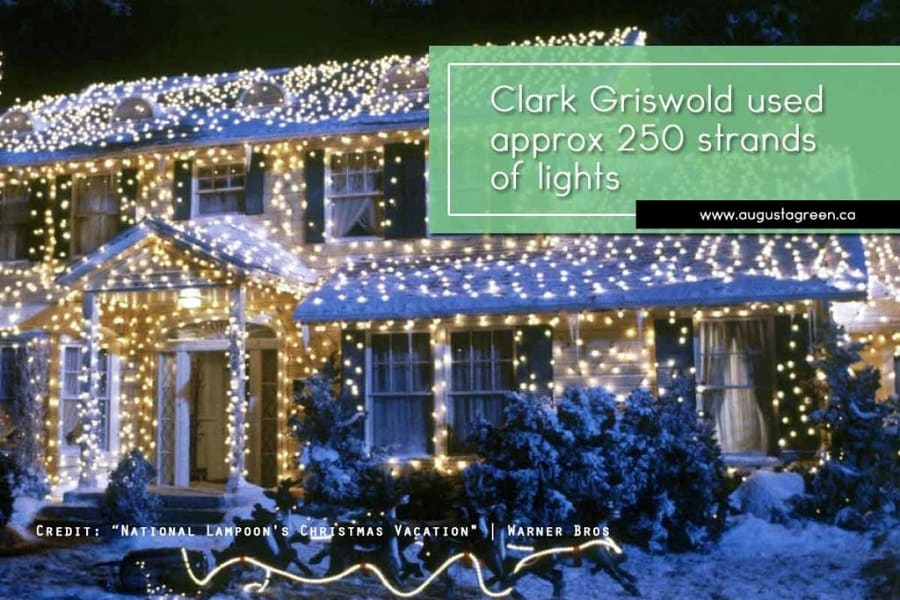 Clark Griswold used approx 250 strands of lights