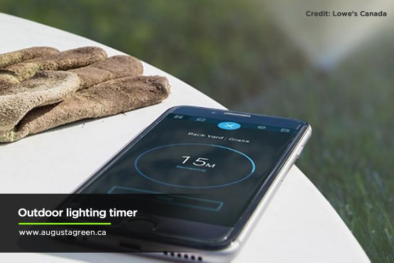 Outdoor lighting timer