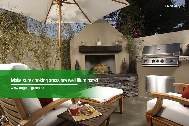 make sure cooking areas are iliminated
