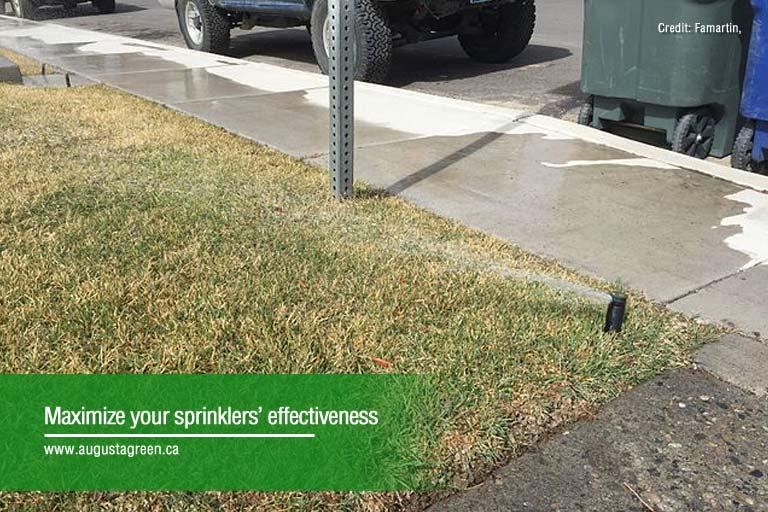 sprinkler's effectiveness