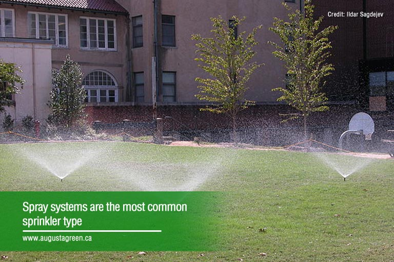 most common sprinkler type