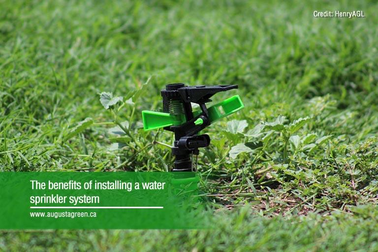 installing water sprinkler system
