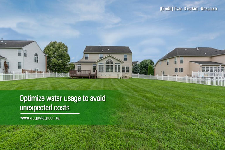 optimize water usage