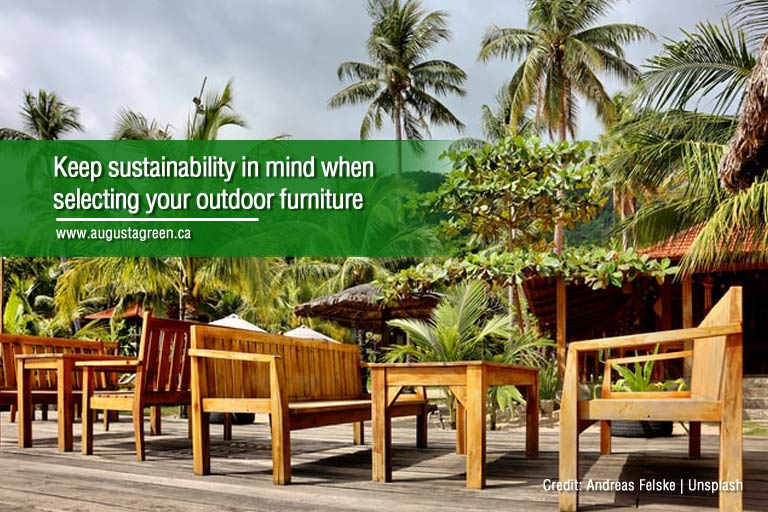 keep sustainability in mind