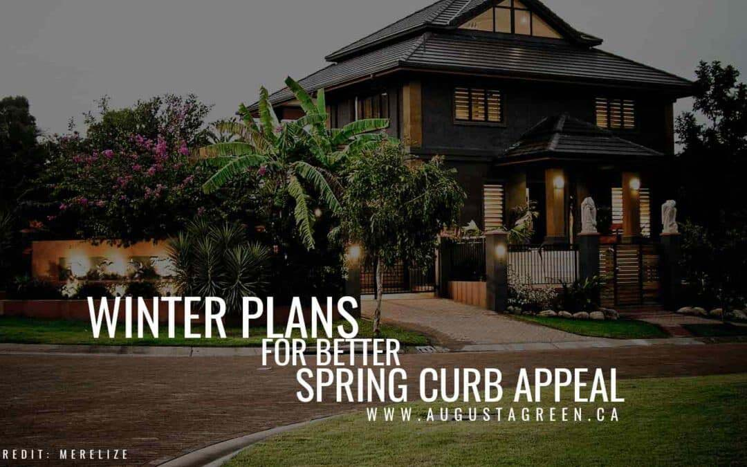 Winter plans for better spring curb appeal