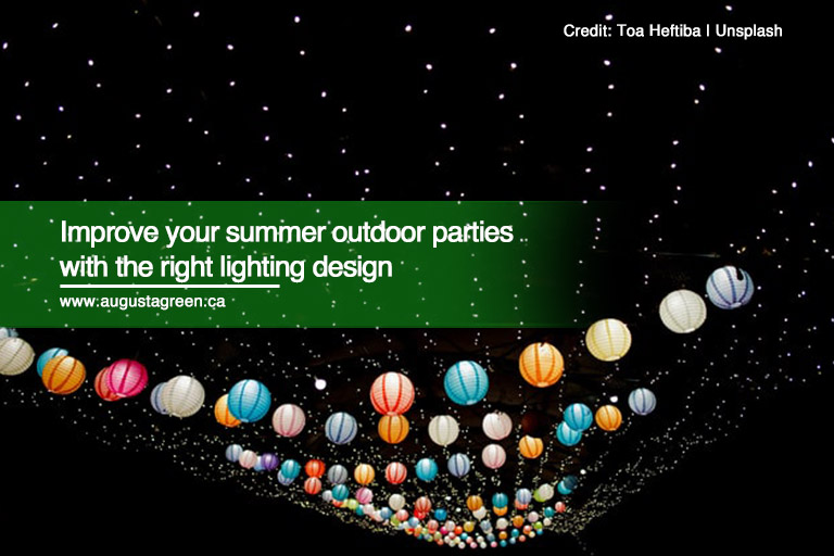 Improve your summer outdoor parties with the right lighting design