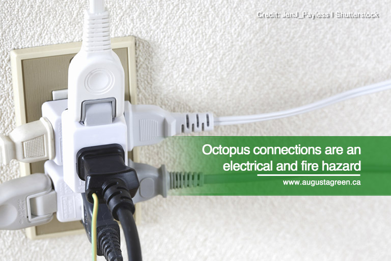 Octopus connections are an electrical and fire hazard